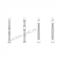 Кованые столбы для перил и ограждений