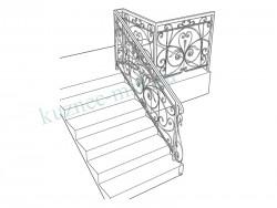 Эскиз будущего ограждения лестницы
