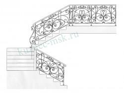 Проект кованого ограждения на лестницу