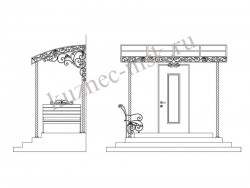 Проект главного входа в частном доме фото №2