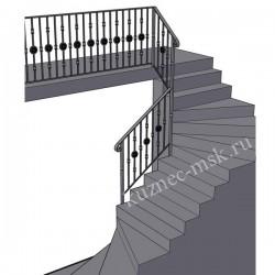 Проект кованых перил для лестницы в доме