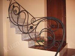 Декоративное ограждение лестницы