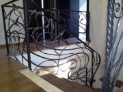 Лестница кованая на второй этаж