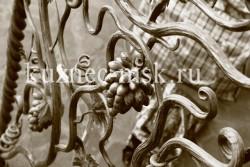Кованые перила виноградная лоза фото №4