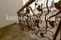 Кованые перила виноградная лоза фото №5