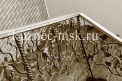 Кованые перила виноградная лоза фото №6