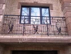 Балконное кованое ограждение для частного дома
