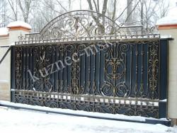 Красивые ворота с откатной автоматикой