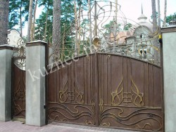 Глухие ворота кованые