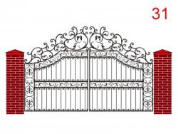 Эскиз кованых ворот № 31