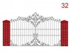 Эскиз кованых ворот № 32