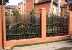 Забор кованый с поликарбонатом №3