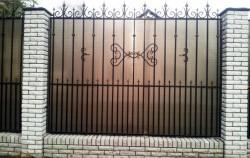 Кованый забор с поликарбонатом фото №6