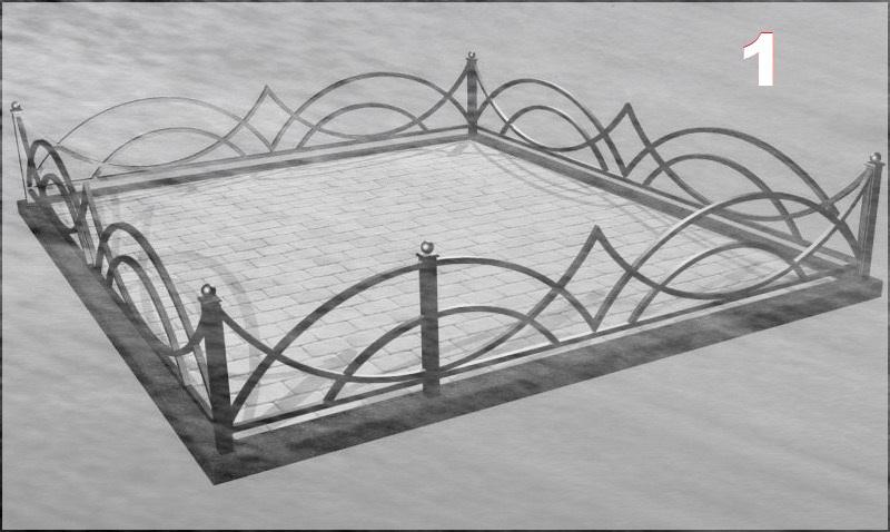 образцы кованных оградок на кладбище