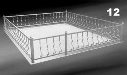Могильная ограда ритуальная кованая