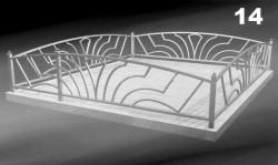 Кованая ограда для могилы