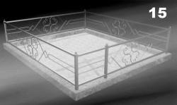 Могильная ограда кованая