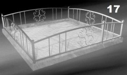 Ритуальная кованая ограда на кладбище