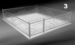 Оградка ритуальная на могилу