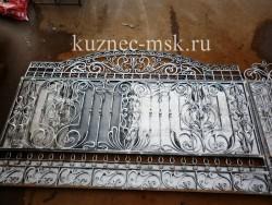 Кузнечный цех фото №12 - кованые ворота подготовка к покраске