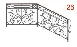 Эскиз кованых перил №26