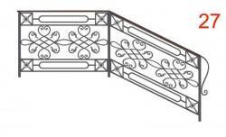 Эскиз кованых перил №27