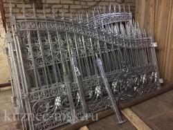 Ворота после горячего цинкования